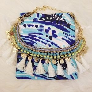 Lilly Pulitzer Tassel Charm Necklace